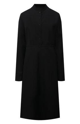 Женское шерстяное платье JIL SANDER черного цвета, арт. JSPT504301-WT202500   Фото 1