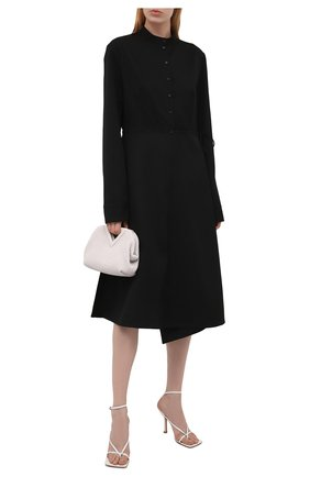 Женское шерстяное платье JIL SANDER черного цвета, арт. JSPT504301-WT202500   Фото 2