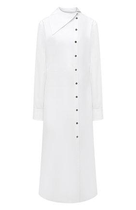 Женское хлопковое платье JIL SANDER белого цвета, арт. JSPT504405-WT244200   Фото 1