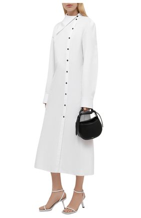 Женское хлопковое платье JIL SANDER белого цвета, арт. JSPT504405-WT244200   Фото 2