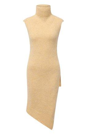 Женский шерстяной жилет JIL SANDER желтого цвета, арт. JSPT751051-WTY20018   Фото 1