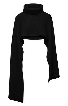Женский кашемировый шарф JIL SANDER черного цвета, арт. JSPT762018-WTY11048 | Фото 1