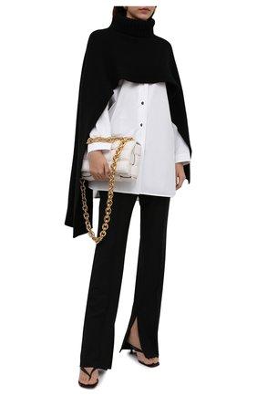 Женский кашемировый шарф JIL SANDER черного цвета, арт. JSPT762018-WTY11048 | Фото 2
