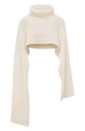 Женский кашемировый шарф JIL SANDER кремвого цвета, арт. JSPT762018-WTY11048 | Фото 1