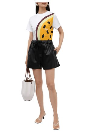 Женская хлопковая футболка loewe x paula's ibiza LOEWE белого цвета, арт. S616Y22X21 | Фото 2 (Рукава: Короткие; Длина (для топов): Стандартные; Материал внешний: Хлопок; Стили: Спорт-шик; Принт: С принтом; Женское Кросс-КТ: Футболка-одежда)