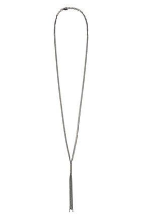 Женское колье BRUNELLO CUCINELLI темно-серого цвета, арт. MC0W9V016/M   Фото 1