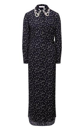 Женское платье из вискозы CHLOÉ темно-синего цвета, арт. CHC21AR069301   Фото 1
