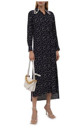 Женское платье из вискозы CHLOÉ темно-синего цвета, арт. CHC21AR069301   Фото 2