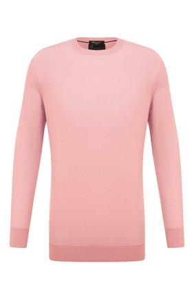 Мужской джемпер из шерсти викуньи LORO PIANA розового цвета, арт. FAL6624/VVIC | Фото 1