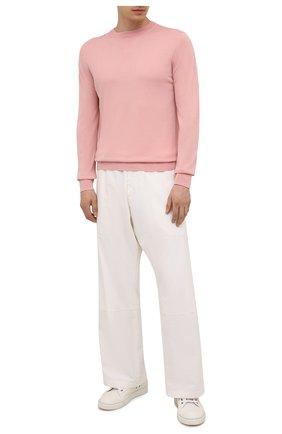 Мужской джемпер из шерсти викуньи LORO PIANA розового цвета, арт. FAL6624/VVIC | Фото 2