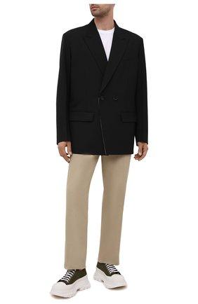 Мужские текстильные кроссовки ALEXANDER MCQUEEN зеленого цвета, арт. 662680/W4QQ1 | Фото 2