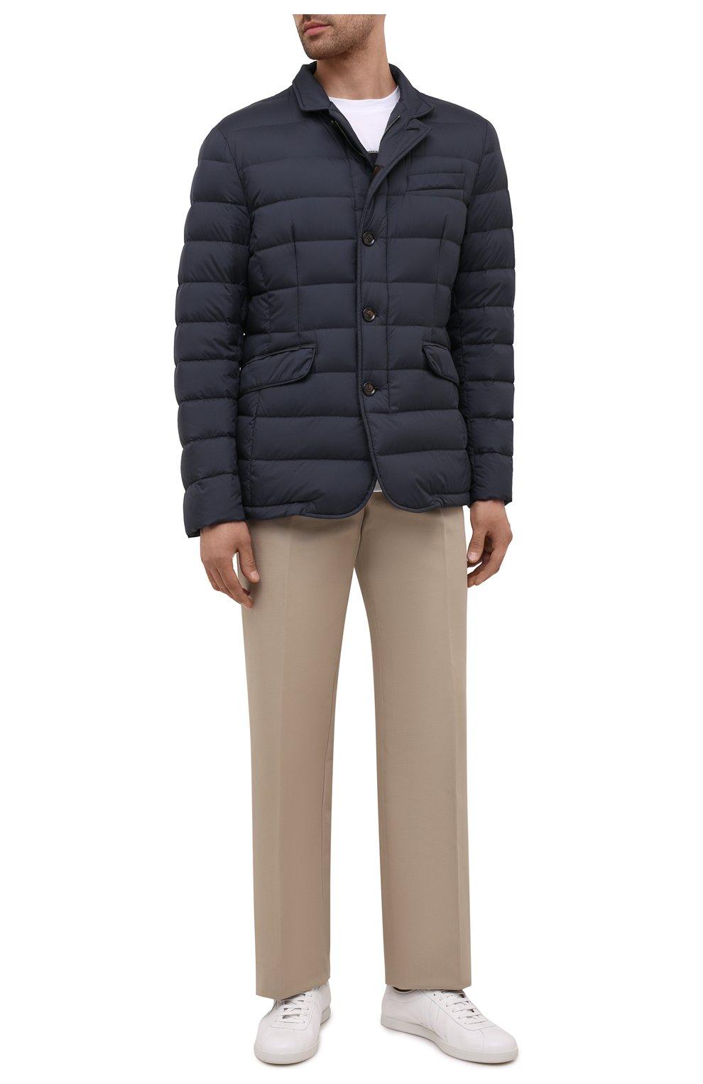 Мужская пуховая куртка zayn-op MOORER синего цвета, арт. ZAYN-0P/M0UGI100307-TEPA017 | Фото 2 (Кросс-КТ: Куртка; Мужское Кросс-КТ: пуховик-короткий; Рукава: Длинные; Материал внешний: Синтетический материал; Материал подклада: Синтетический материал; Длина (верхняя одежда): Короткие; Материал утеплителя: Пух и перо; Стили: Кэжуэл)