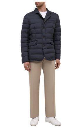Мужская пуховая куртка zayn-op MOORER синего цвета, арт. ZAYN-0P/M0UGI100307-TEPA017 | Фото 2 (Материал внешний: Синтетический материал; Длина (верхняя одежда): Короткие; Материал подклада: Синтетический материал; Рукава: Длинные; Кросс-КТ: Куртка; Мужское Кросс-КТ: пуховик-короткий; Стили: Кэжуэл; Материал утеплителя: Пух и перо)