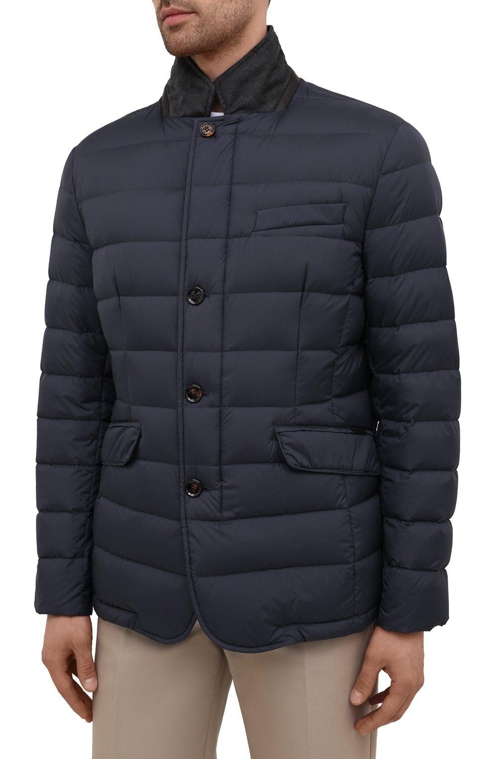 Мужская пуховая куртка zayn-op MOORER синего цвета, арт. ZAYN-0P/M0UGI100307-TEPA017 | Фото 3 (Кросс-КТ: Куртка; Мужское Кросс-КТ: пуховик-короткий; Рукава: Длинные; Материал внешний: Синтетический материал; Материал подклада: Синтетический материал; Длина (верхняя одежда): Короткие; Материал утеплителя: Пух и перо; Стили: Кэжуэл)