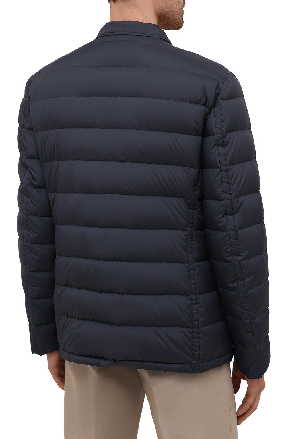 Мужская пуховая куртка zayn-op MOORER синего цвета, арт. ZAYN-0P/M0UGI100307-TEPA017 | Фото 4 (Кросс-КТ: Куртка; Мужское Кросс-КТ: пуховик-короткий; Рукава: Длинные; Материал внешний: Синтетический материал; Материал подклада: Синтетический материал; Длина (верхняя одежда): Короткие; Материал утеплителя: Пух и перо; Стили: Кэжуэл)