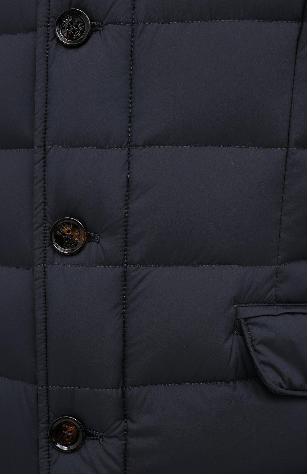 Мужская пуховая куртка zayn-op MOORER синего цвета, арт. ZAYN-0P/M0UGI100307-TEPA017 | Фото 5 (Кросс-КТ: Куртка; Мужское Кросс-КТ: пуховик-короткий; Рукава: Длинные; Материал внешний: Синтетический материал; Материал подклада: Синтетический материал; Длина (верхняя одежда): Короткие; Материал утеплителя: Пух и перо; Стили: Кэжуэл)