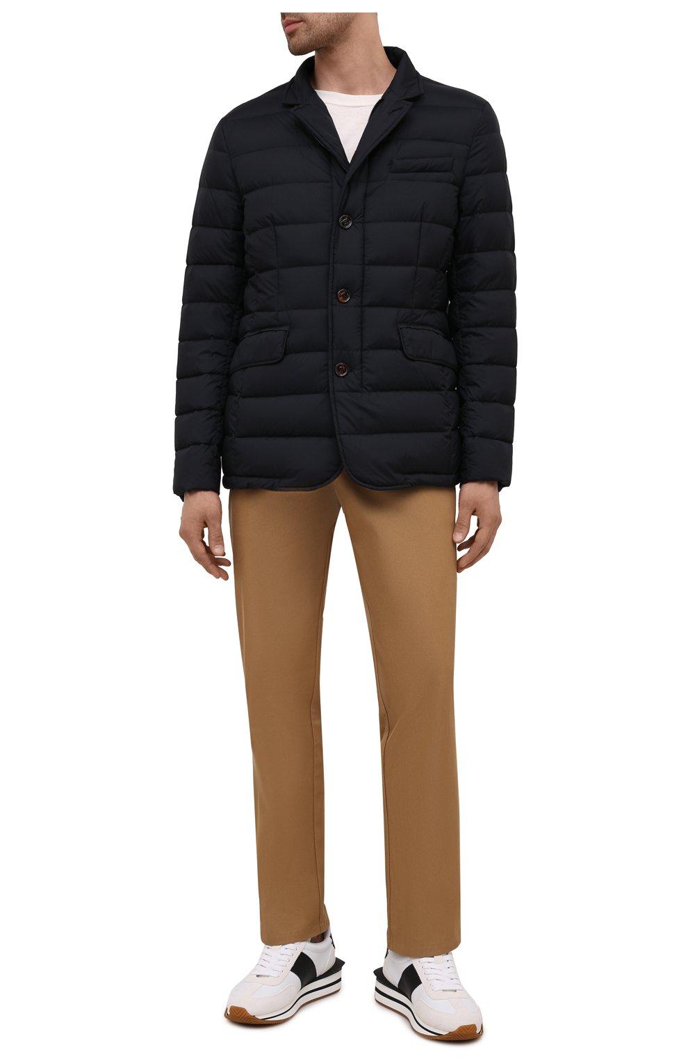 Мужская пуховая куртка zayn-op MOORER темно-синего цвета, арт. ZAYN-0P/M0UGI100307-TEPA017 | Фото 2 (Кросс-КТ: Куртка; Мужское Кросс-КТ: пуховик-короткий; Рукава: Длинные; Материал внешний: Синтетический материал; Материал подклада: Синтетический материал; Длина (верхняя одежда): Короткие; Материал утеплителя: Пух и перо; Стили: Кэжуэл)