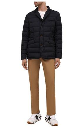 Мужская пуховая куртка zayn-op MOORER темно-синего цвета, арт. ZAYN-0P/M0UGI100307-TEPA017 | Фото 2 (Материал внешний: Синтетический материал; Длина (верхняя одежда): Короткие; Кросс-КТ: Куртка; Рукава: Длинные; Мужское Кросс-КТ: пуховик-короткий; Стили: Кэжуэл; Материал подклада: Синтетический материал; Материал утеплителя: Пух и перо)
