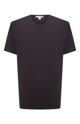 Мужская хлопковая футболка JAMES PERSE темно-серого цвета, арт. MLJ3311 | Фото 1 (Материал внешний: Хлопок; Принт: Без принта; Длина (для топов): Стандартные; Стили: Кэжуэл; Рукава: Короткие)