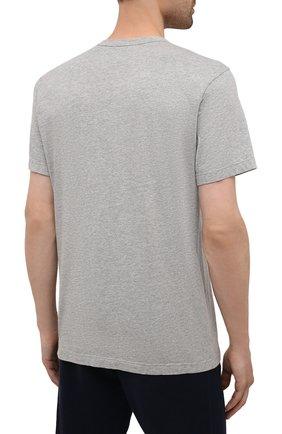 Мужская хлопковая футболка JAMES PERSE серого цвета, арт. MHE3282 | Фото 4 (Принт: Без принта; Рукава: Короткие; Длина (для топов): Стандартные; Материал внешний: Хлопок; Стили: Кэжуэл)
