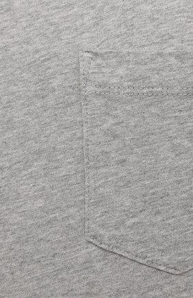 Мужская хлопковая футболка JAMES PERSE серого цвета, арт. MHE3282 | Фото 5 (Принт: Без принта; Рукава: Короткие; Длина (для топов): Стандартные; Материал внешний: Хлопок; Стили: Кэжуэл)
