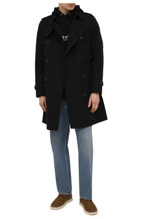 Мужские кожаные ботинки soho LORO PIANA хаки цвета, арт. FAL2903 | Фото 2 (Материал внутренний: Натуральная кожа; Мужское Кросс-КТ: Ботинки-обувь, Дезерты-обувь; Подошва: Плоская)