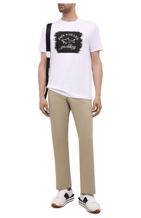 Мужская хлопковая футболка PAUL&SHARK белого цвета, арт. 11311604/C00 | Фото 2 (Материал внешний: Хлопок; Длина (для топов): Стандартные; Рукава: Короткие; Стили: Кэжуэл; Принт: С принтом)