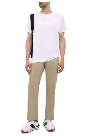 Мужская хлопковая футболка PAUL&SHARK белого цвета, арт. 11311629/C00 | Фото 2 (Материал внешний: Хлопок; Длина (для топов): Стандартные; Рукава: Короткие; Стили: Кэжуэл; Принт: С принтом)