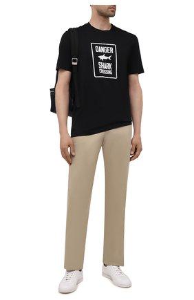 Мужская хлопковая футболка PAUL&SHARK черного цвета, арт. 11311657/C00 | Фото 2