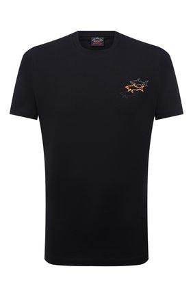 Мужская хлопковая футболка PAUL&SHARK черного цвета, арт. 11311658/C00 | Фото 1