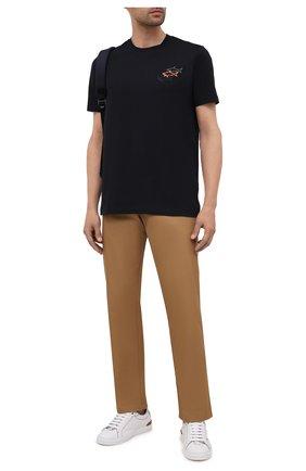 Мужская хлопковая футболка PAUL&SHARK черного цвета, арт. 11311658/C00 | Фото 2