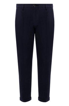 Мужские брюки из хлопка и льна PAUL&SHARK темно-синего цвета, арт. 21414043/FJD | Фото 1