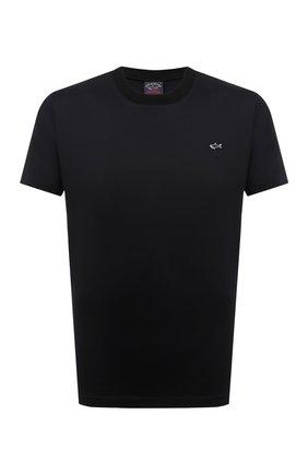 Мужская хлопковая футболка PAUL&SHARK черного цвета, арт. C0P1092/C00 | Фото 1