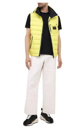 Мужская хлопковая футболка PAUL&SHARK черного цвета, арт. C0P1092/C00 | Фото 2