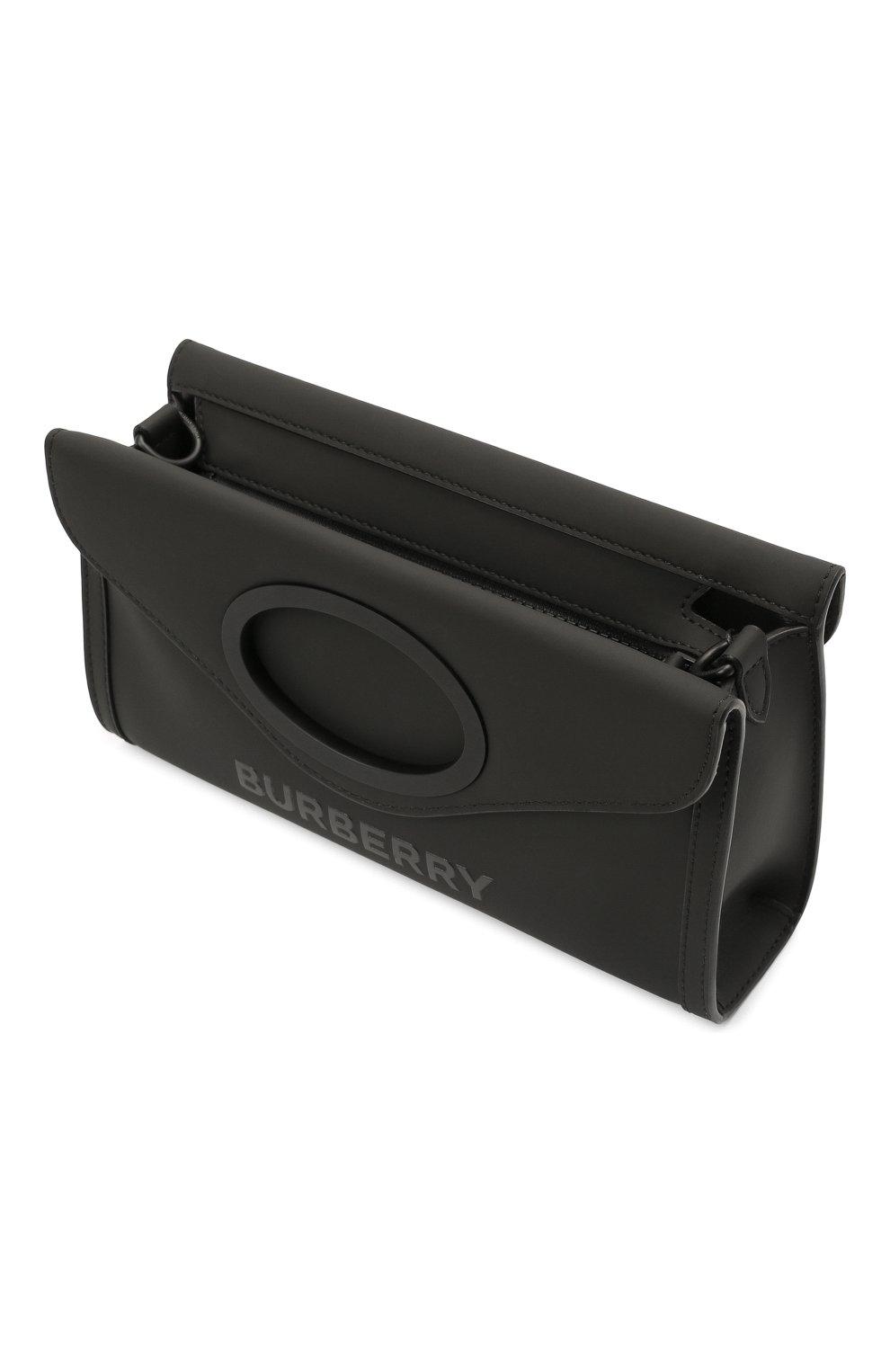 Мужская сумка BURBERRY черного цвета, арт. 8040078 | Фото 4