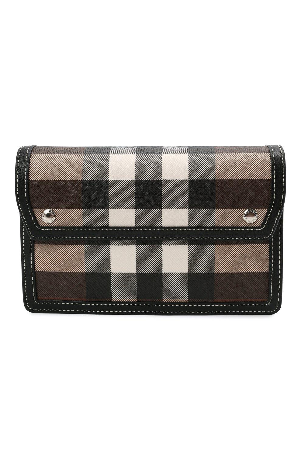 Мужская сумка BURBERRY коричневого цвета, арт. 8039213 | Фото 1