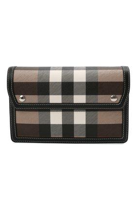 Мужская сумка BURBERRY коричневого цвета, арт. 8039213 | Фото 1 (Ремень/цепочка: На ремешке; Материал: Экокожа)