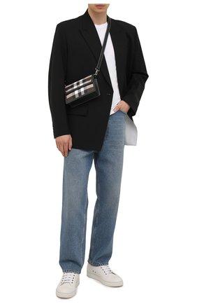 Мужская сумка BURBERRY коричневого цвета, арт. 8039213 | Фото 2 (Ремень/цепочка: На ремешке; Материал: Экокожа)