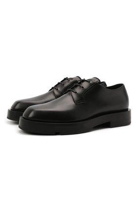 Мужские кожаные дерби GIVENCHY черного цвета, арт. BH1034H0VG | Фото 1