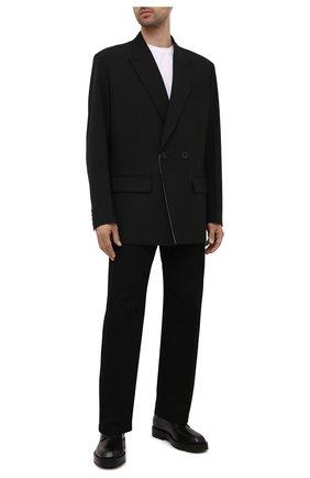 Мужские кожаные дерби GIVENCHY черного цвета, арт. BH1034H0VG | Фото 2