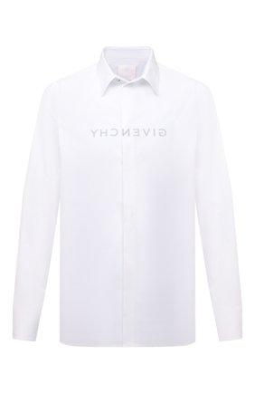 Мужская хлопковая рубашка GIVENCHY белого цвета, арт. BM60QJ109F   Фото 1