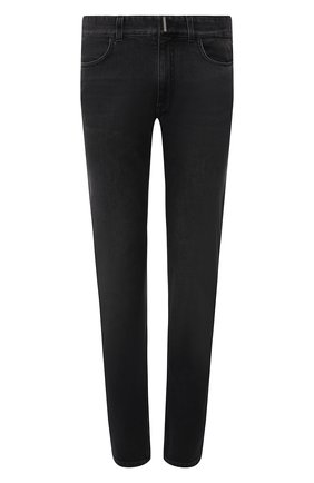 Мужские джинсы GIVENCHY темно-серого цвета, арт. BM50ST50BJ | Фото 1 (Материал внешний: Хлопок; Длина (брюки, джинсы): Стандартные; Силуэт М (брюки): Прямые; Стили: Кэжуэл; Кросс-КТ: Деним)