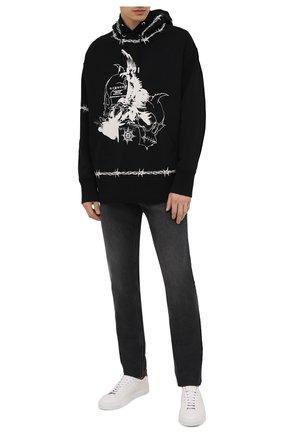 Мужские джинсы GIVENCHY темно-серого цвета, арт. BM50ST50BJ   Фото 2 (Материал внешний: Хлопок; Длина (брюки, джинсы): Стандартные; Силуэт М (брюки): Прямые; Стили: Кэжуэл; Кросс-КТ: Деним)