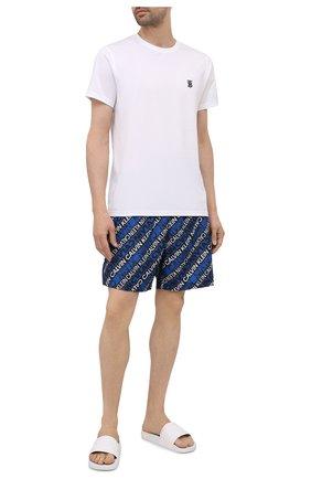 Мужские плавки-шорты CALVIN KLEIN синего цвета, арт. KM0KM00550 | Фото 2