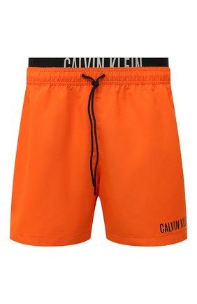 Мужские плавки-шорты CALVIN KLEIN оранжевого цвета, арт. KM0KM00552   Фото 1 (Материал внешний: Синтетический материал)