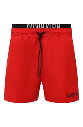 Мужские плавки-шорты CALVIN KLEIN красного цвета, арт. KM0KM00552   Фото 1 (Материал внешний: Синтетический материал)