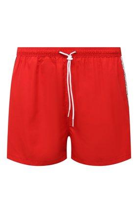 Мужские плавки-шорты CALVIN KLEIN красного цвета, арт. KM0KM00556   Фото 1 (Материал внешний: Синтетический материал; Принт: Без принта)