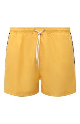 Мужские плавки-шорты CALVIN KLEIN желтого цвета, арт. KM0KM00556 | Фото 1