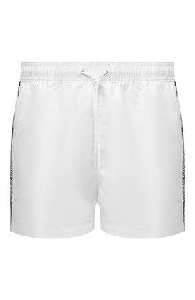 Мужские плавки-шорты CALVIN KLEIN белого цвета, арт. KM0KM00557 | Фото 1 (Материал внешний: Синтетический материал; Принт: Без принта)