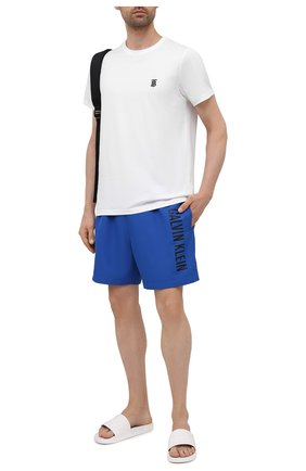 Мужские плавки-шорты CALVIN KLEIN синего цвета, арт. KM0KM00570 | Фото 2